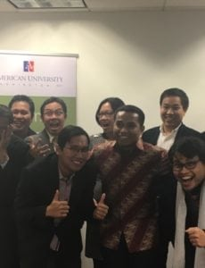 Master's Accelerator Students smile for picture